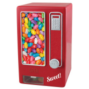 ASAB Children's Red Retro Style Sweet Dispenser Vending Machine Snack Jelly Bean Candy Nuts Display Storage No Batteries Required