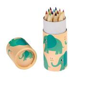 Elvis The Elephant Colouring Pencils