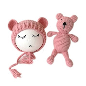Newborn Baby Photography Props Boy Girl Crochet Costume Outfits Hat Bear Set
