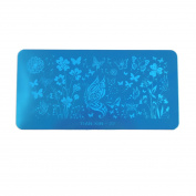 sourcingmap® Stainless Steel Nail Stamping Plate Image Design Stamp Template Nails Decor Tool