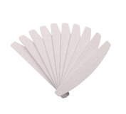 Washable Double Sided Nail File Emery Board 10 Pcs Nail Art Sanding Buffering Files Grit Size 100/180 °C