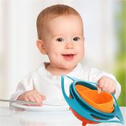 GAOMOJU & Baby Kid Boy Girl Gyro Feeding Toy Bowl Dishes Non Spill Universal 360 Rotate
