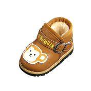 For 6-24 Months Kids , sunnymi® Fashion Toddler Infant Newborn Baby Girls Boys Cute Cartoon Warmer Martin Leather Sneaker Crib Shoes Casual Shoes