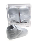 "Baby Boys Cream / Ivory Satin Christening Baptism Style Booties ""My Special Day"" (6-12 months)"