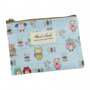 Pu Ran Portable Cartoon Animal Pattern Mini Wallet Zipper Coin Purse Card Holder Bag - 2#