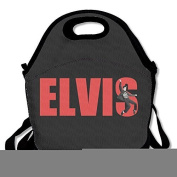 Elvis Presley Lunch Bag Lunch Tote, Waterproof Outdoor Travel Picnic Lunch Box Bag Tote With Zipper And Adjustable Crossbody Strap