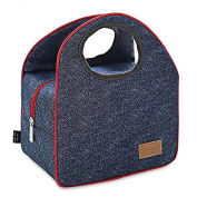 Inovey Portable Insulated Canvas Thermal Food Picnic Lunch Bags Camping Barbecue Food Container