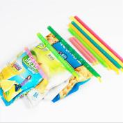 Lalang 8Pcs Bag Sealer Sticks Slide-On Bag Sealer Food Sealing Clips, Random Colour