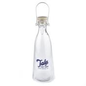 Vintage glass bottle 1 litre by Tala - blue