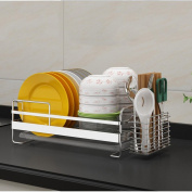 GZD Kitchen shelf 304 stainless steel single-layer bowl dish drain shelf bowl cutlery plate rack
