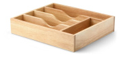 Continenta cutlery drawer made from rubber tree wood with A 5 Compartment Cutlery Drawer Tray Cutlery Drawer, Size