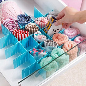 Risingmed Plastic Drawer Divider Adjustable Drawer Divider , 8 PCS Plastic DIY Adjustable Drawer Divider - Keep Your Drawers Tidy ,Drawer Partitions Drawer Organisers ,Clapboard Divider Cabinet DIY Storage Organiser