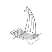 Royal Cuisine 2 In 1 Chrome Square Fruit Basket Rack Holder & Banana Hook Hanger