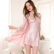 Sexy Lingerie Strap Ladies Nightdresses Silk Lace Jacket With Long Sleeves Home Wear Two-Piece Spring / Summer / Autumn