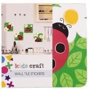 Kids' Art & Craft Wall Tile Stickers Assorted