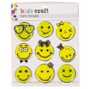 Kids' Art & Craft Puffy Stickers 2 Assorted
