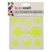 Kids' Art & Craft Jelly Stickers for Windows Assorted