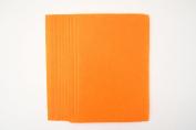 10 x A4 Felt Sheets - Orange - Arts & Craft Fabric Material