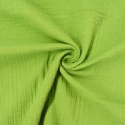 Dress Fabric Double Gauze Muslin Cloth Fabric Plain Green