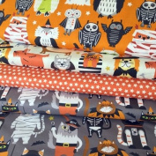 HALLOWEEN FABRIC BUNDLE - Boo Crew BLEFB039 - 4 Fat Quarters each 55 cm x 50 cm - By Blend - 100% Cotton
