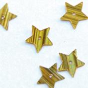 Glitter Star 10 mm 10g. Hologram Gold