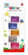 5 Assorted Glitter Shakers Pots Children Kids Card Making Art & Craft Stationery