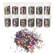 Glitter Confetti ROSENICE Craft Sequins for DIY Nail Art Party Wedding Decoration 12 Packs
