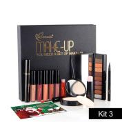 Xshuai NICEFACE Merry Christmas Gift Cosmetic Set Makeup Eye Shadow Lipstick Powder Mascara Combination Cosmetic Kit for Women Ladies Girls