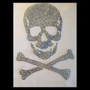Strass Skull M Crystal ss10 Hotfix