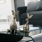 Simple Gold Deer Handmade Resin Creative Home Decoration Gift a Pair