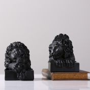 Modern Simple White And White Lion Head Bookend Tree Resin Decoration Craft Gift , 29.2*13.3*17.2cm