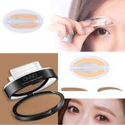 Xshuai New Waterproof Natural Eye Brow Stamp Powder Perfect Eyebrow Power Seal Nature Eye Brow Powder Delicate Shape for Beginners