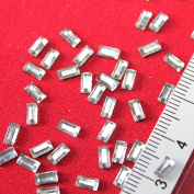 2x5 mm Glass Rectangle Shape Hotfix 90 Pieces Colour Crystal Rhinestone Bling