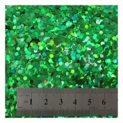 15g LARGE HOLOGRAPHIC GLITTER *4 SIZES *5 COLOURS * CRAFTS NAIL ART CARD MAKING (Green 0.3cm