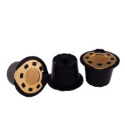 Gold Refillable Reusable Coffee Capsule Filter Compatible Nespresso Soft Capsules Baskets