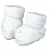pantau.eu Nicki Booties Velour Baby First Shoes Christening Shoes 0-3 Months