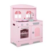 Kids Wooden Kitchen Playset Pink.