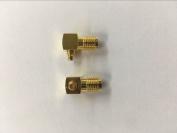 Saide 2pcs SMA female to MMCX male Right angle Adapter;UK stock, .