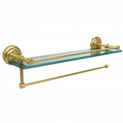 Allied Brass PQN-1PT/ 60.6lPB Prestige Que New Collection Paper Towel Holder with 41cm Gallery Glass Shelf