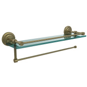 Allied Brass PQN-1PT/ 60.6lABR Prestige Que New Collection Paper Towel Holder with 41cm Gallery Glass Shelf