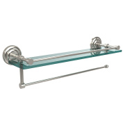 Allied Brass PQN-1PT/ 83.3lPNI Prestige Que New Collection Paper Towel Holder with 60cm Gallery Glass Shelf