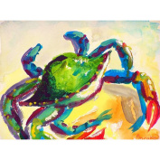 Betsy Drake Teal Crab 80cm By 130cm Comfort Floor Mat