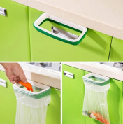 Nikgic Cupboard Trash Bag Holder Rack Hanger Hanging Rack Organiser Hanging Rack for Kitchen Waste