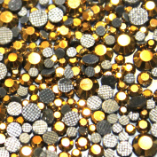 500 Mixed Crystal Glass Hematite Gold AB Hotfix Assortment S06/S16/S10/S20 210