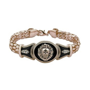 SevenMye 1x Fashion Alloy Vintage Rhinestone Bracelet with Lion Head
