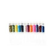 Creafirm – 12 Mini Round Glitter Rhinestones Vials 40 mm