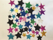 KRAFTZ® Glitter Foam Eva Star Shape Stickers, Self Adhesive in Assorted Sizes And Colours For Kids Art & Craft, Decorating Cards and Models