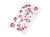 Self-Adhesive Vine Flower Pearls Zipping + Adhesive Strips Mosaic Tile Crystal Rhinestone Gems Cards, Available in a Range of Colours