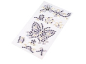Butterfly Crystal Rhinestone Gems Beads Self-Adhesive Zipping + Adhesive Strips, Decorative Stones, Cards, Many Colours mauve