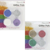 Glitter Value Pots - Pack of 8